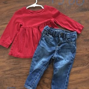 Infant Gap shirt and jeans